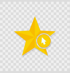 Star icon cursor icon vector