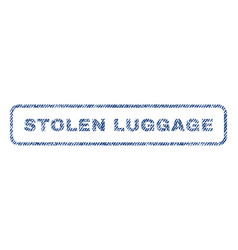 Stolen luggage textile stamp vector
