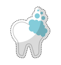 tooth clean isolated icon vector image