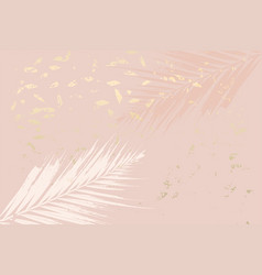 Trendy autumn foliage mint colored gold blush vector