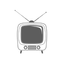 Tv icon isolated on white background vector