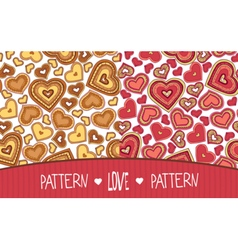 Two Love patterns yellow and red vector