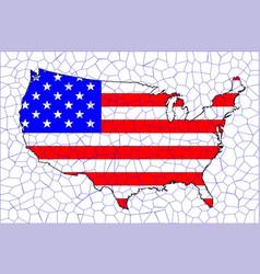 usa flag map mosaic vector image