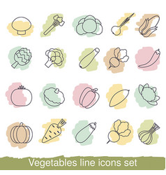 Vegetables line icons vegetables line icons vector