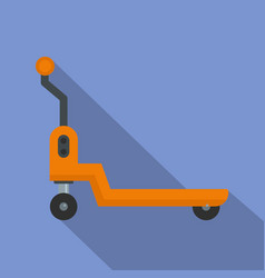 Warehouse loader icon flat style vector
