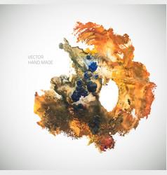watercolor-shape-orange vector image