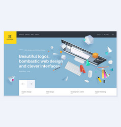 Website template design vector