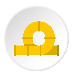 Yellow playground slider icon circle vector