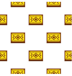 Yellow turkish carpet pattern seamless vector