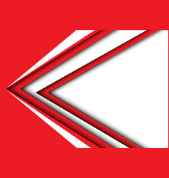 abstract white red arrow speed modern vector image