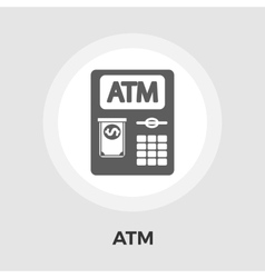 ATM flat icon vector image vector image