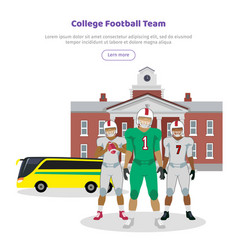 Colleage football team high school on background vector