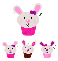 easter bunny cupcakes vector image vector image