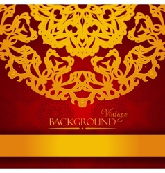 Vintage red and gold elegant invitation card vector image vector image