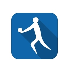 Athlete man volleyball player silhouette vector image vector image