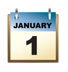 daily calendar vector image