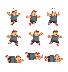 Fat Boy Falling Sprite vector image