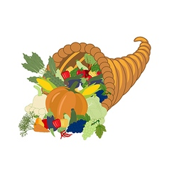Horn of plenty harvest vector image vector image
