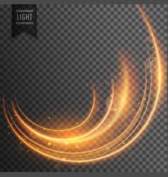 neon light streak transparent effect background vector image