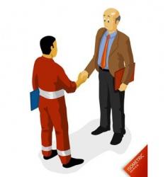 oil worker agreement vector image vector image