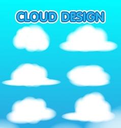 Cloud Design Set Blur Sky vector image vector image