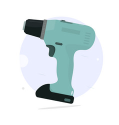 cordless screwdriver cartoon style vector image vector image