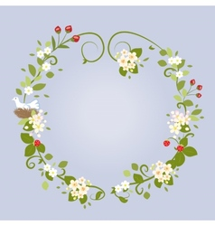Floral Design Love Spring Beautiful Wedding Wreath vector image vector image