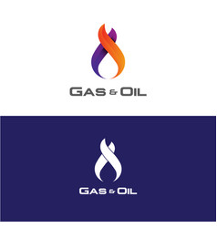 gas and oil logo vector image vector image