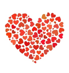 Heart made up of hearts flat vector image