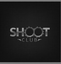 shoot club emblem vector image