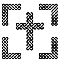 simple celtic style endless knot cross in black vector image vector image