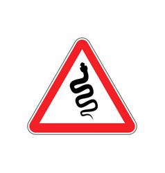 snake warning sign red venomous serpent hazard vector image vector image