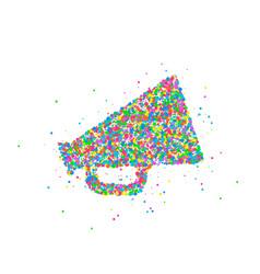 abstract loudspeaker splash vector image