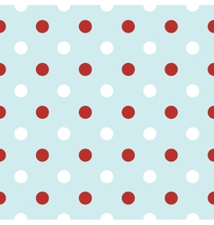 Christmas retro background with red Polka Dots vector image vector image