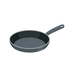 Frying pan isolated kitchen utensils for cooking vector