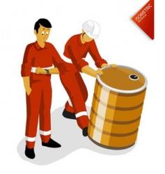 oil worker vector image vector image