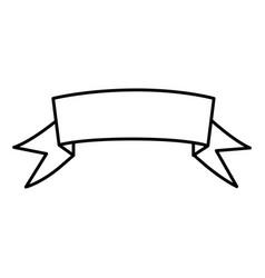 silhouette ribbon label decorative icon vector image vector image