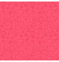Summer Line Travel and Resort Pink Seamless vector image
