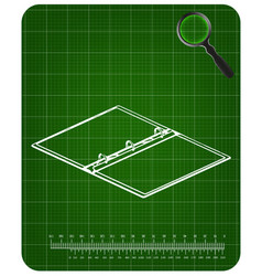 3d model of notebook on a green vector image