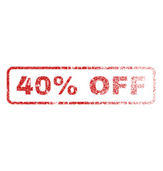 40 percent off rubber stamp vector