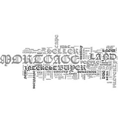 a short history of the mortgage text word cloud vector image