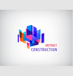 abstract 3d construction architecture vector image