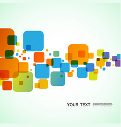 Abstract bright squares on a white background vector