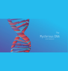 abstract dna double helix as vector image