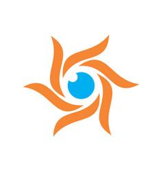 abstract sun eye logo icon vector image