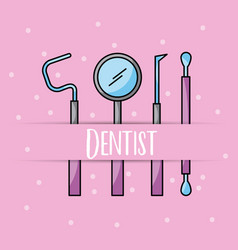 Accessories dentist job vector