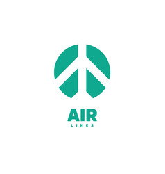 airplane logo air logo airline logo airport vector image