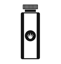 aloe lotion icon simple style vector image