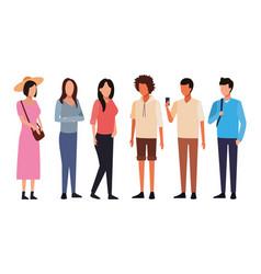 avatar people cartoon vector image