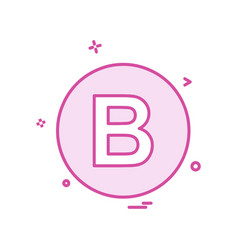 B icon design vector